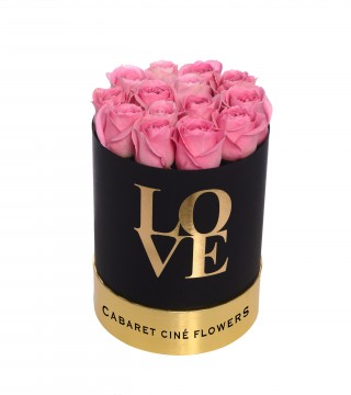 Medium Love Box Pink-Love Silindir Kutu
