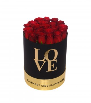 Medium Love Box Red-Love Silindir Kutu