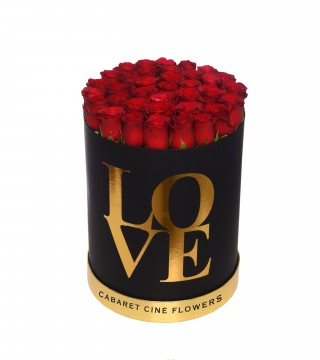 Large Love Box Red-Love Silindir Kutu